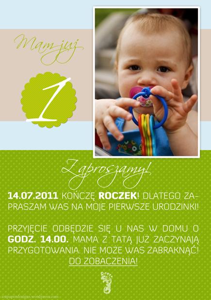 Urocze Zaproszenie Na Urodziny Dziecka Paper Designs
